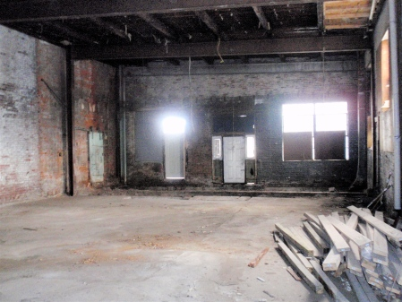 Demo's begun. Can a kitchen be far behind?